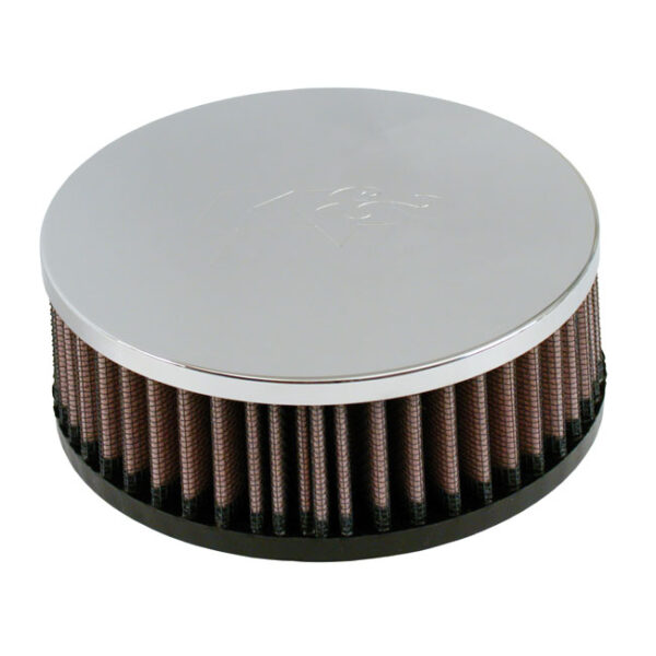 K&N Air Filter Element 40-44mm Mikuni Carburetors (5cm deep) (with chrome end cap)