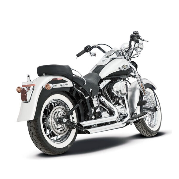 "Paughco 2 1/4"" 9Twentyfives pipes (black) (short slash cut) 86-11 Softail"
