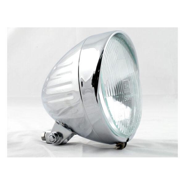 Custom Bullet Headlamp chrome plated 6 1/2 inch