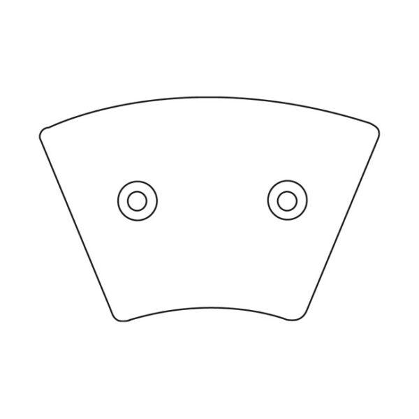 "EBC Brake Pads (Organic) Front 74-77 FX""XL"