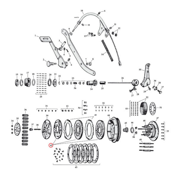 """ALTO Red Eagle Clutch Plate Set 41-73 Flathead """"45 SV (and outer spring disc)"""