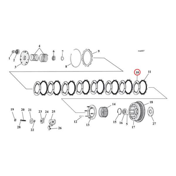 ALTO Steel Clutch Plate Set 71-E84 Sportster XL (8 plates)