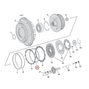 ALTO Steel Clutch Plate Set 98-99 BigTwin & 99-13 TwinCam (8 plates)